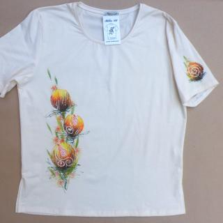 ručně malovaná trička dámská | BARBULKA - dekorativní ...